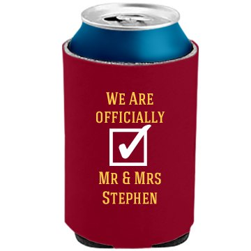 Can koozies for the newly wed couples
