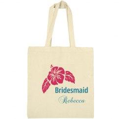 Bridesmaid Floral Totebag