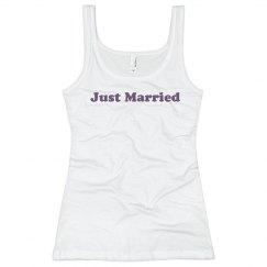 Just Married Wedding Top