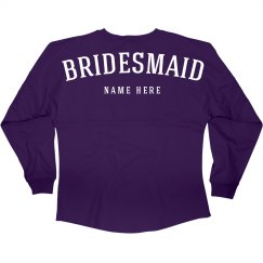 Bridesmaid Name Jersey