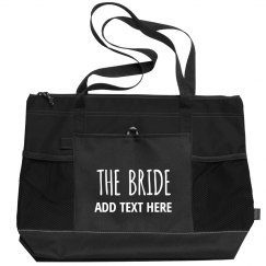 Trendy Custom Name Bride Tote