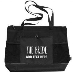 Trendy Custom Name Bride Tote