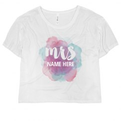 Trendy Watercolor Mrs Name