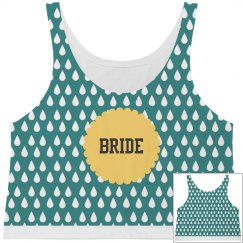All Over Print Bride Crop Tank Top