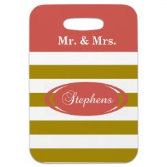 Mr and Mrs Luggage Tags