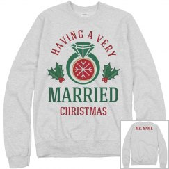 Just Married Christmas Ugly Sweater