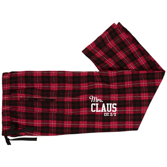 9ead86ab9e Mrs. Claus Custom Pajama Bottoms Unisex Fashion Flannel Pajama Pants
