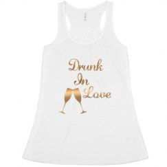 Drunk in love bride tanktop