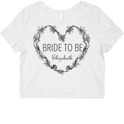 Daisy Heart Bride To Be