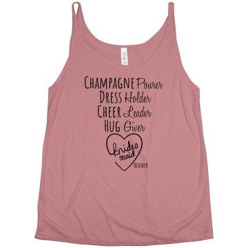 champagne bridesmaid