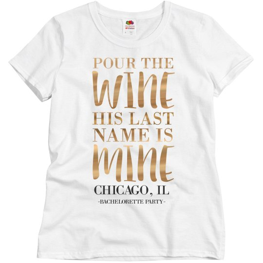 Chicago Bachelorette Metallic Tee