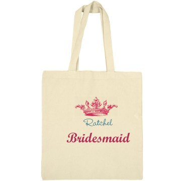 Crown Bridesmaid Tote Bag