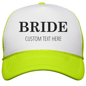 Custom Bride & Groom Matching Neon Trucker Hats