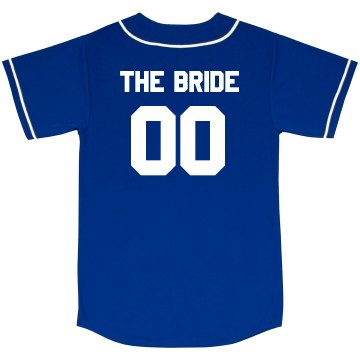 Custom Bride Baseball Jersey