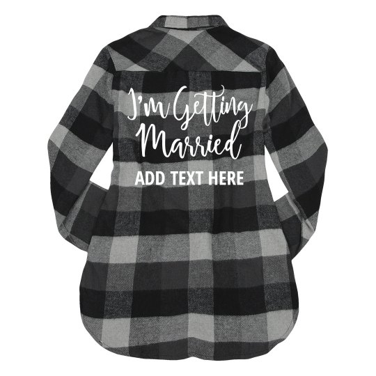 Custom Bride Getting Married Plaid