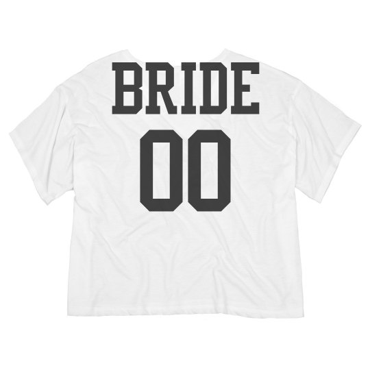 Custom Bride Jersey Crop