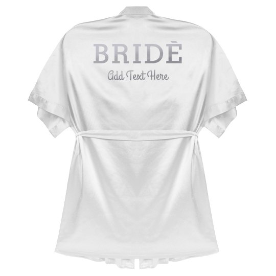 Custom Bride Silver Metallic Robe