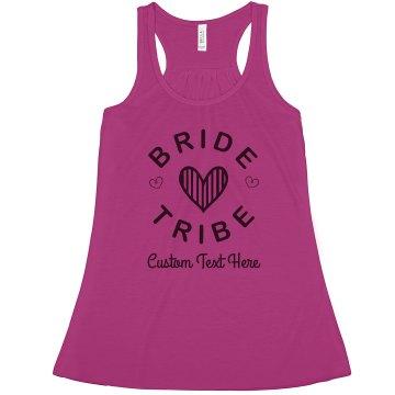 Custom Bride Tribe Hearts