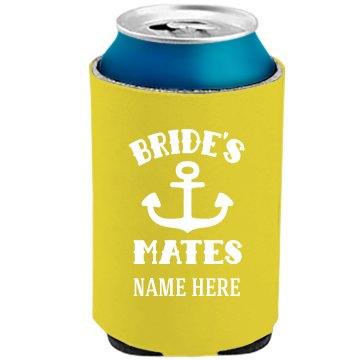 Custom Bride's Mates Neon Koozie