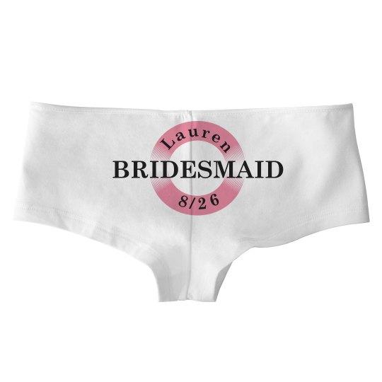 Custom Bridesmaid Date