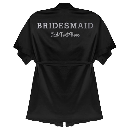 Custom Bridesmaid Metallic Robe