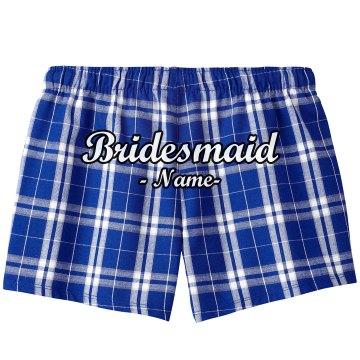 Custom Bridesmaid Name