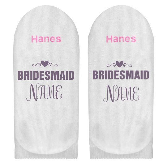 Custom Bridesmaid Name Gift