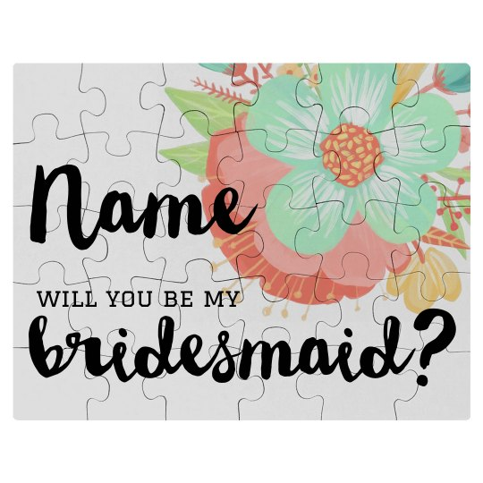 Custom Bridesmaid Proposal Puzzle