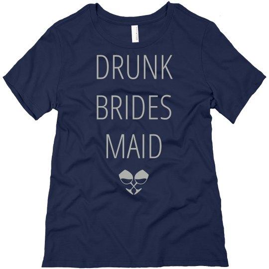 Custom Drunk Bridesmaid Wine