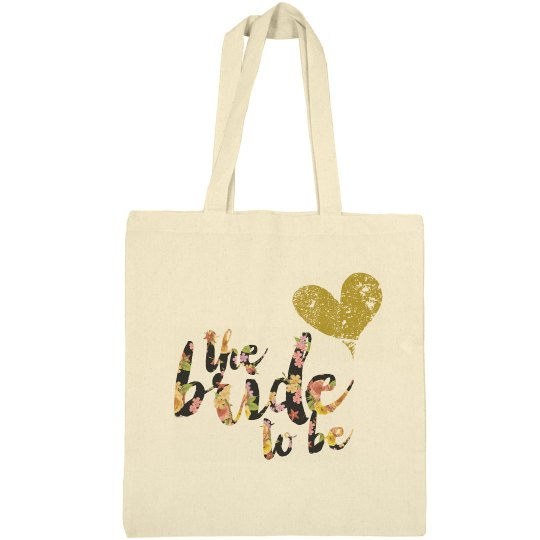 Custom Floral Bride to Be Tote