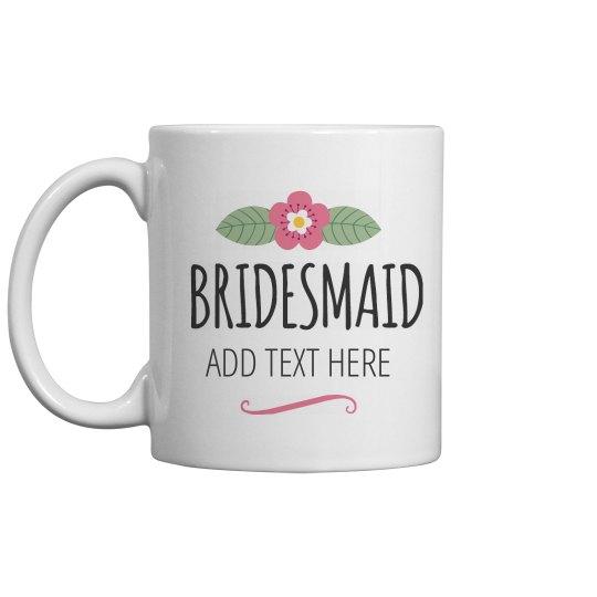 Custom Floral Bridesmaid Gift