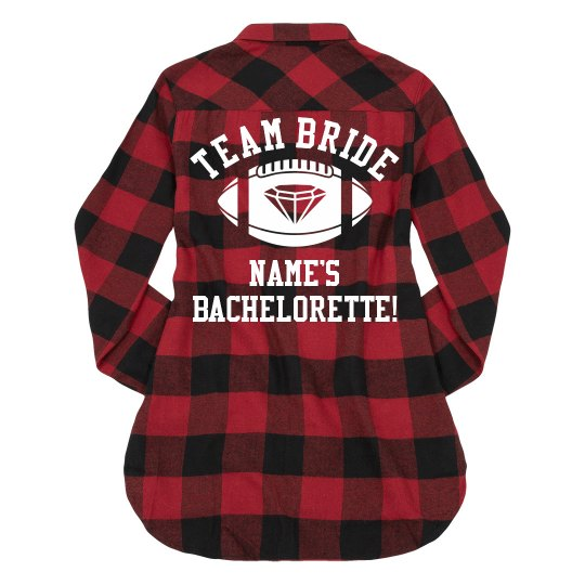 Custom Football Bachelorette Bride