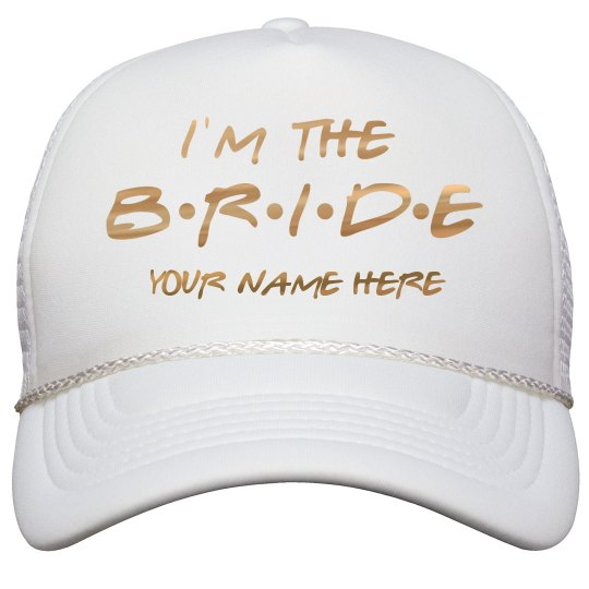 Custom Friends Bride Metallic Hat