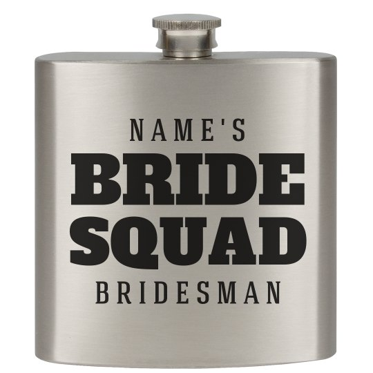 Custom Gift For Bridesman Flask