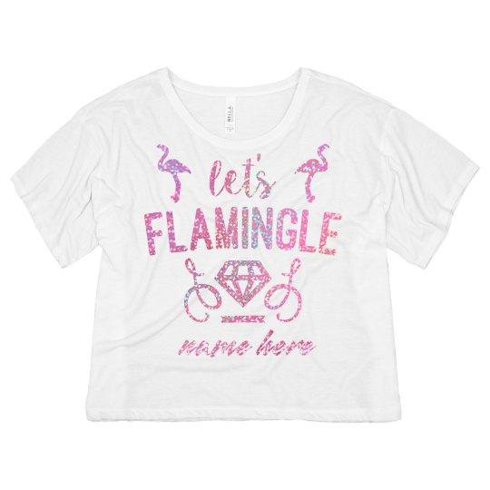 Custom Glitter Flamingle Design