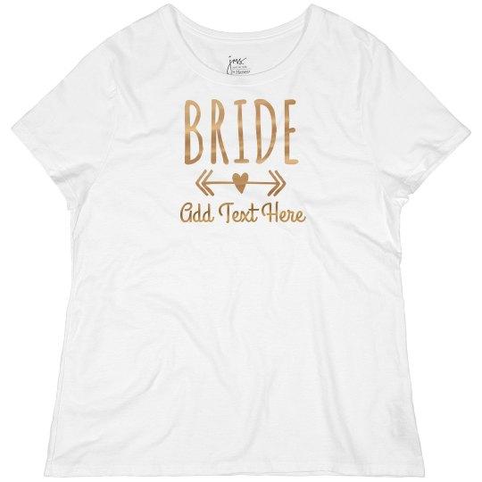 Custom Gold Bride Heart