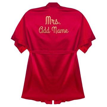 Custom Gold Mrs Last Name