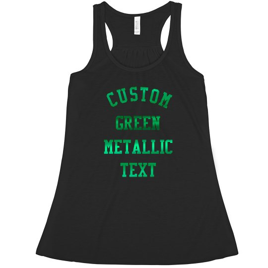 Custom Green Metallic Text