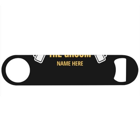Custom Groom Name With Beer Mugs