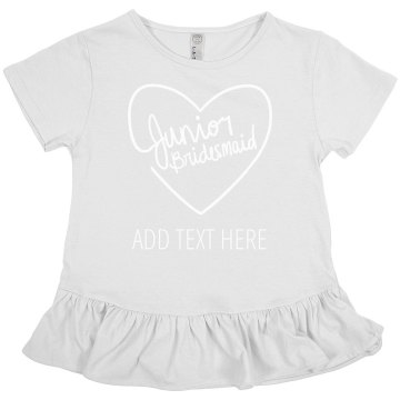 Custom Heart Junior Bridesmaid