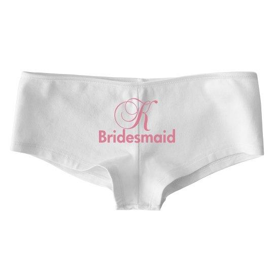 Custom Initial Bridesmaid