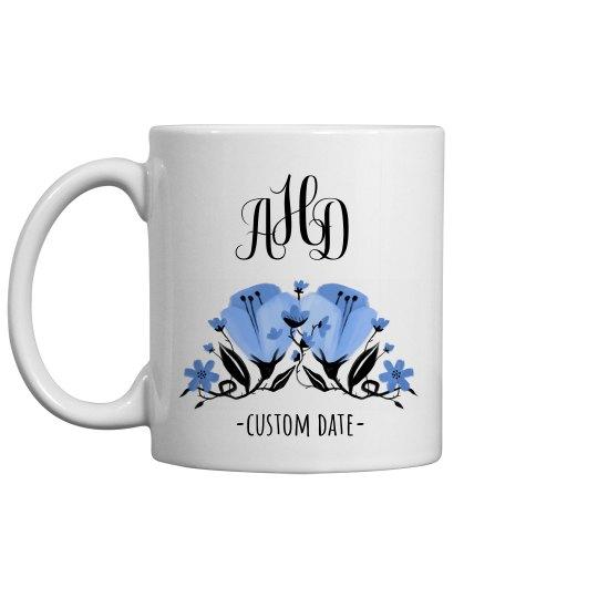 Custom Initials & Date Mug
