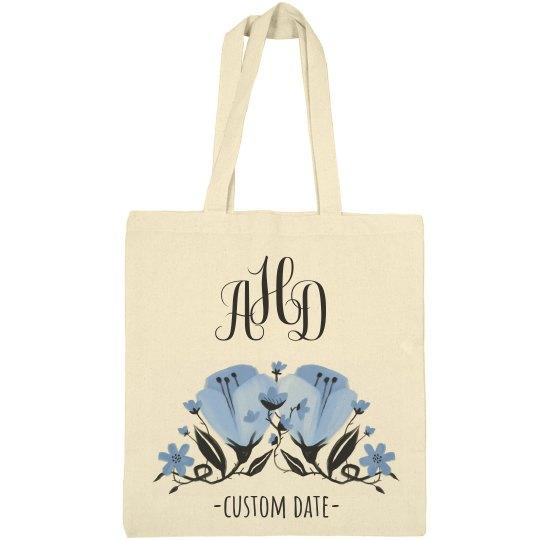 Custom Initials & Date Tote
