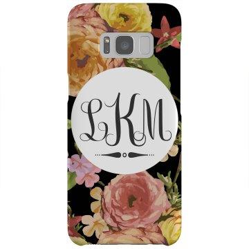 Custom Initials Floral Phone Case
