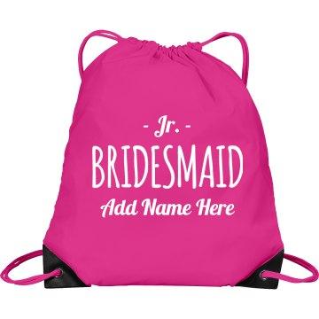 Custom Junior Bridesmaid Backpack
