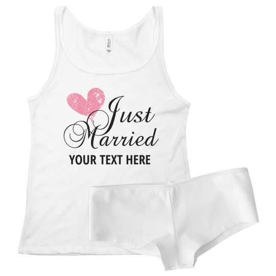 Custom Just Married Undies
