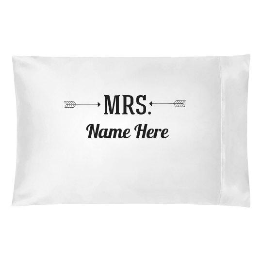 Custom Matching Mrs Name Arrow