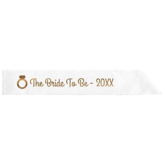 Custom Metallic Bride To Be Design