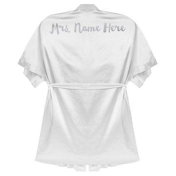 Custom Metallic Mrs Name