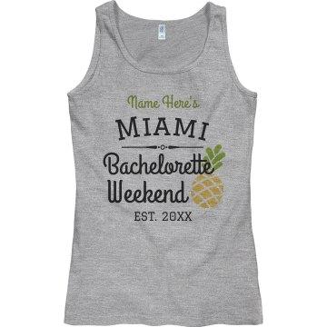 Custom Miami Bachelorette Weekend Tank